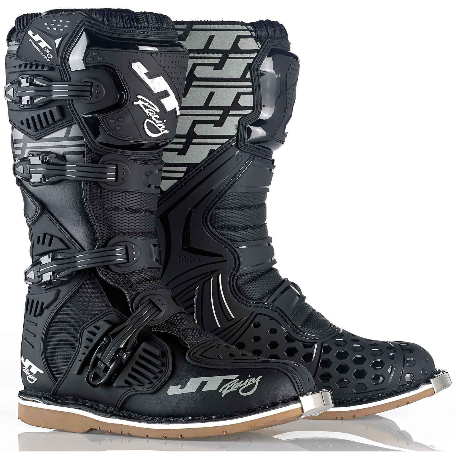 JT RACING USA Podium Boots, Black