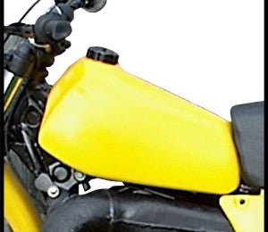 Clarke Mfg Fuel Tank Yamaha YZ400 & YZ250 (77-78) Stock (Yellow) #11430-07