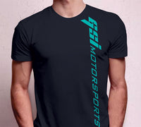 Men's GSI Motorsports Black w/ Teal