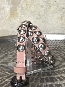 Diesel Belt with Large Silver Grommets Blush