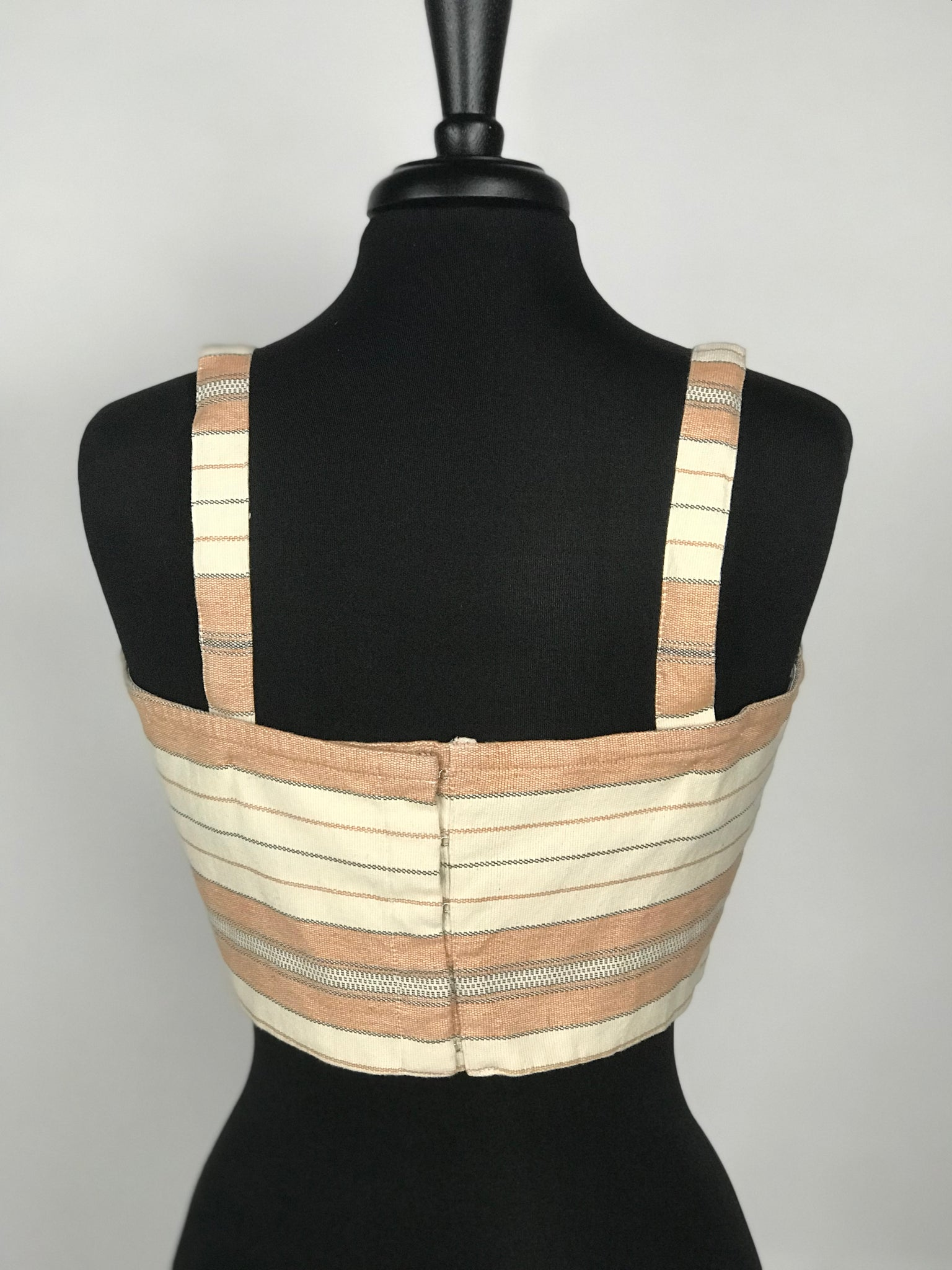 Majorelle Striped Linen Crop Top