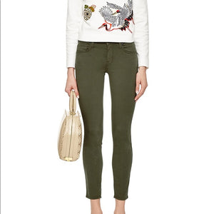 Genetic Green Daphne Midrise Crop Jeans