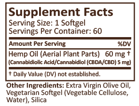 Plus CBD Oil Softgels - DYC