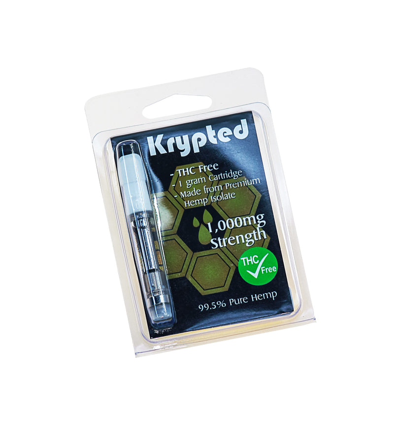 Krypted Inc CBD Cartridges 300mg & 1000mg