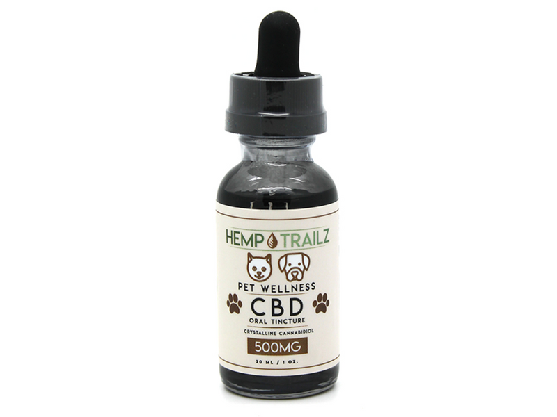 Hemp Trailz CBD Pet Oral Tincture 500mg