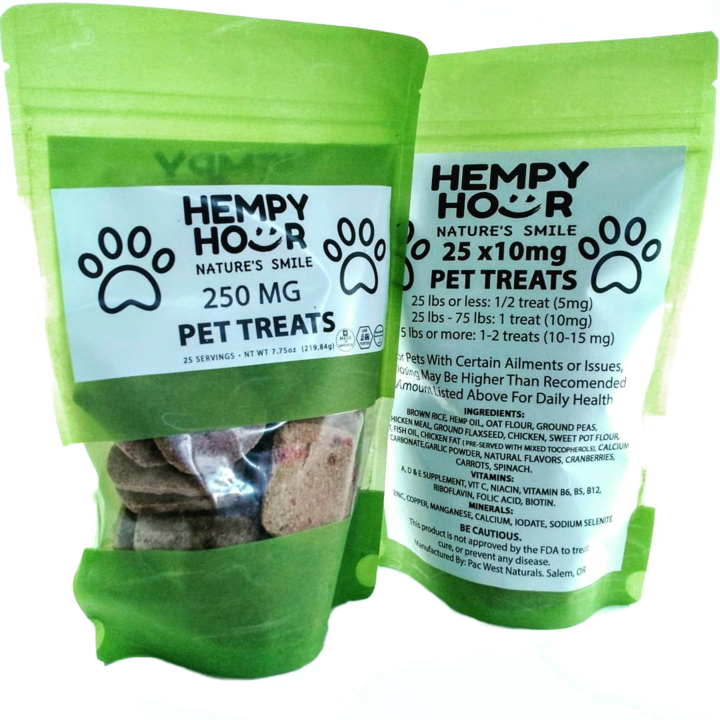 Hempy Hour Pet Treats 250mg