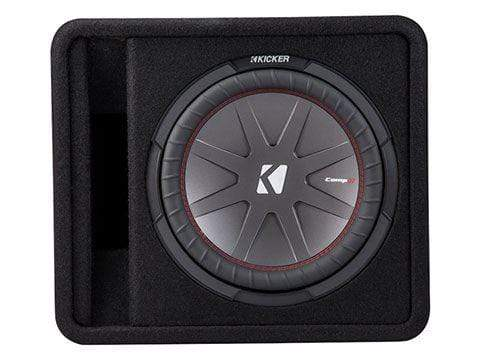"Car Audio Subwoofer Kicker CompR 12"" Loaded Enclosure"