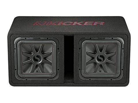 "Car Audio Subwoofer Kicker L7R Dual 12"" Loaded Enclosure"