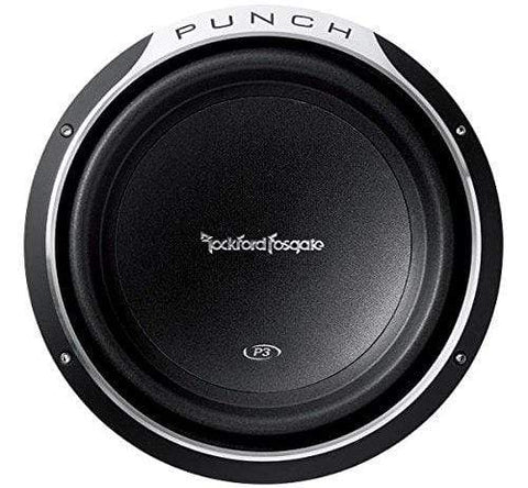 "Car Audio Subwoofer Rockford Fosgate P3D2-12 Punch 12"" P3 2-Ohm DVC Subwoofer"