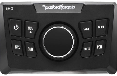 Marine Head Unit Rockford Fosgate PMX-0R Punch Marine Wired Remote Control