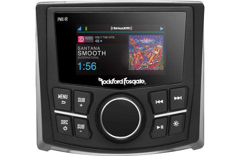 "Marine Head Unit Rockford Fosgate PMX-1R Punch Marine Full Function Wired Remote 2.7"" Display"