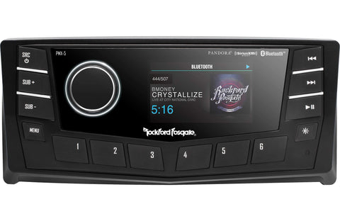 "Marine Head Unit Rockford Fosgate PMX-5CAN Marine Digital Media Receiver 2.7"" Display"