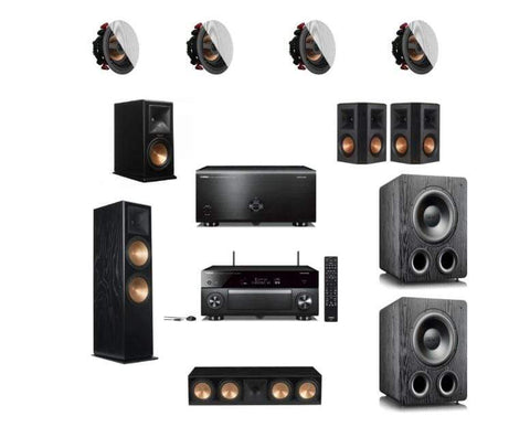 Packages YAMAHA & KLIPSCH 7.2.4 DOLBY ATMOS HOME THEATRE PACKAGE