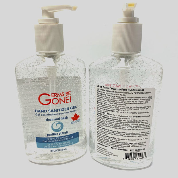 Hand Sanitizer Aloe & Vitamin E 236ml - Germs Be Gone
