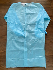 isolation gown class 4 iconthin biotech corp. PPE ANSI PB70 Level 4 FDA Class I registration Made with PE film laminated high-repellent non woven fabric Good protection with superior barrier against biological and infectious hazards Film laminated combines superior protection with a comfortable, soft and flexible fabric Velcro adjustable collar Laces fixed Elasticated cuffs