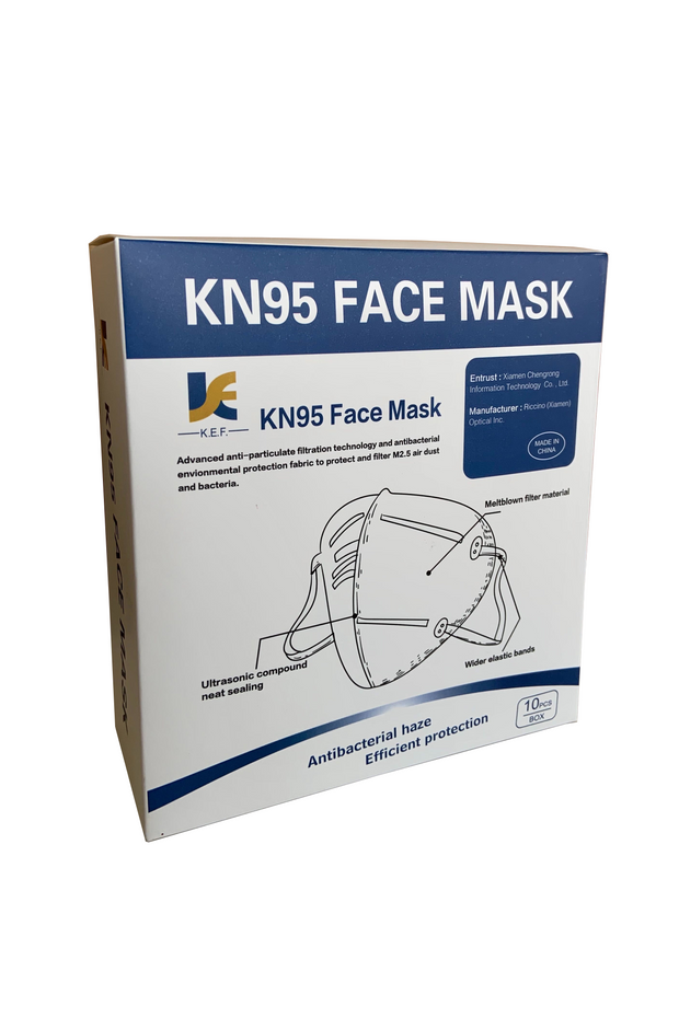 K.E.F. Xiamen Chengrong KN95 protective mask (10pcs/box, individually packed) FFP2 N95 GB2626-2006 Surgical masks ASTM level 2 Type IIR Iconthin Disposable Standard Earloop face Mask medical N95 PPE coronavirus COVID-19 emergency ontario PPE Toronto  Canada