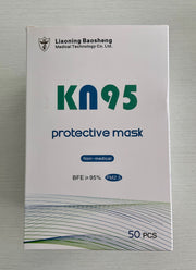 Liaoning Baosheng KN95 protective mask (50pcs/box) FFP2 N95 GB2626-2006Surgical masks ASTM level 2 Type IIR Iconthin Disposable Standard Earloop face Mask medical N95 PPE coronavirus COVID-19 emergency ontario PPE