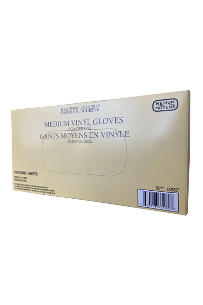 Vinyl Gloves (Powder free, 100 gloves per box) - Kitchen Essentials