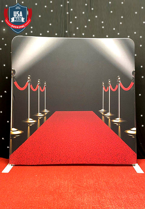 Red Carpet Tension Fabric Backdrop