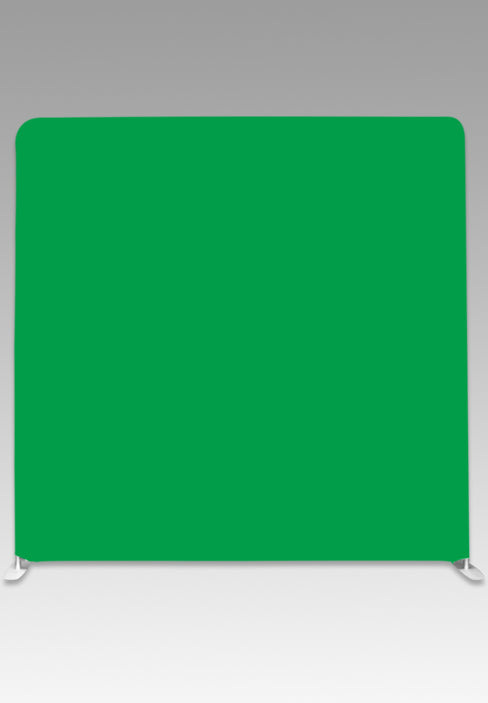White & Green Double-Sided Party Photo Backdrop