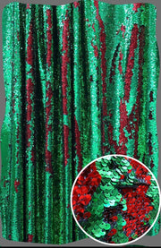 Red and Green Mermaid Sequin Backdrop