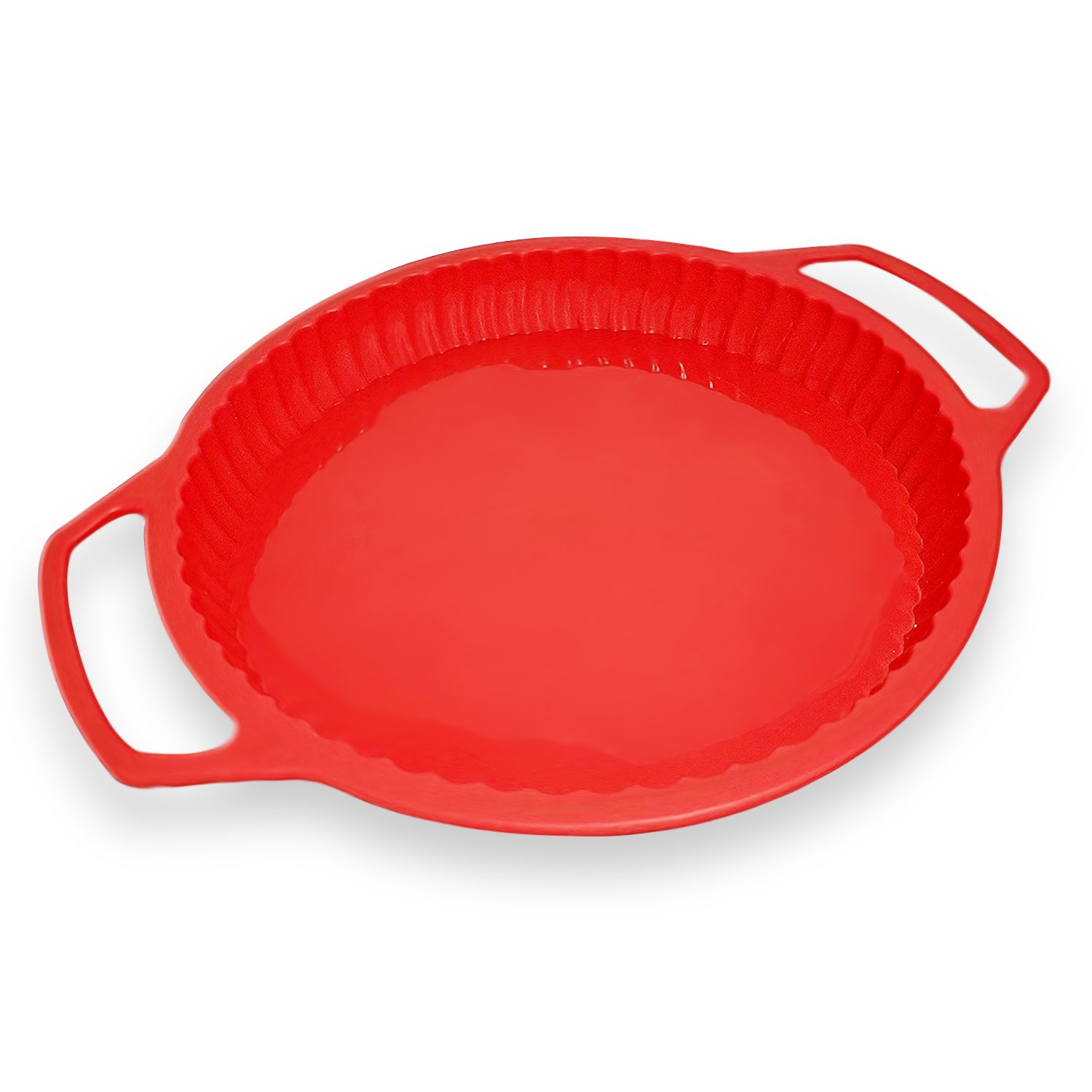 Silicone Pie Tart Quiche Baking Pan With Metal Reinforced Handle