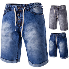 Load image into Gallery viewer, The new spring and summer Men's casual denim shorts