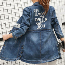 Load image into Gallery viewer, XXXL Plus Size Jeans Jacket Casual Denim Jacket Women Long Sleeve Women's Clothing Tops