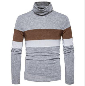 2017 Autumn and winter new men's England head stripe slim turtleneck sweater