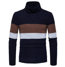 Load image into Gallery viewer, 2017 Autumn and winter new men's England head stripe slim turtleneck sweater