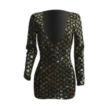 Load image into Gallery viewer, Womens Sexy Sequin dress V Neck Summer Party Short dresses