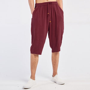 INCERUN Men's Wide Crotch Harem Pants Loose Joggers Pants Men Summer linen Trousers Hip-Hop Pants Drawstring Male Streetwear