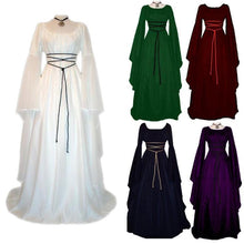 Load image into Gallery viewer, 2018 Women Fashion Vintage Style Women Gothic Dress Medieval Dress Up Floor Women Retro Dress Cosplay Dress Long Dress