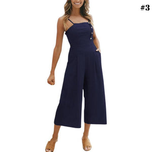 Womens Jumpsuits Sleeveless Camis Rompers Summer Backless Girl Clothing