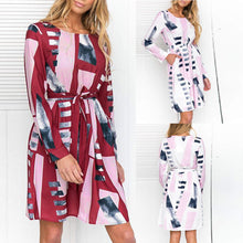 Load image into Gallery viewer, Womens Irregular Shape Printed Dress Ladies Casual Dress