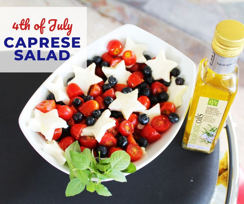 STAR SPANGLED CAPRESE SALAD!