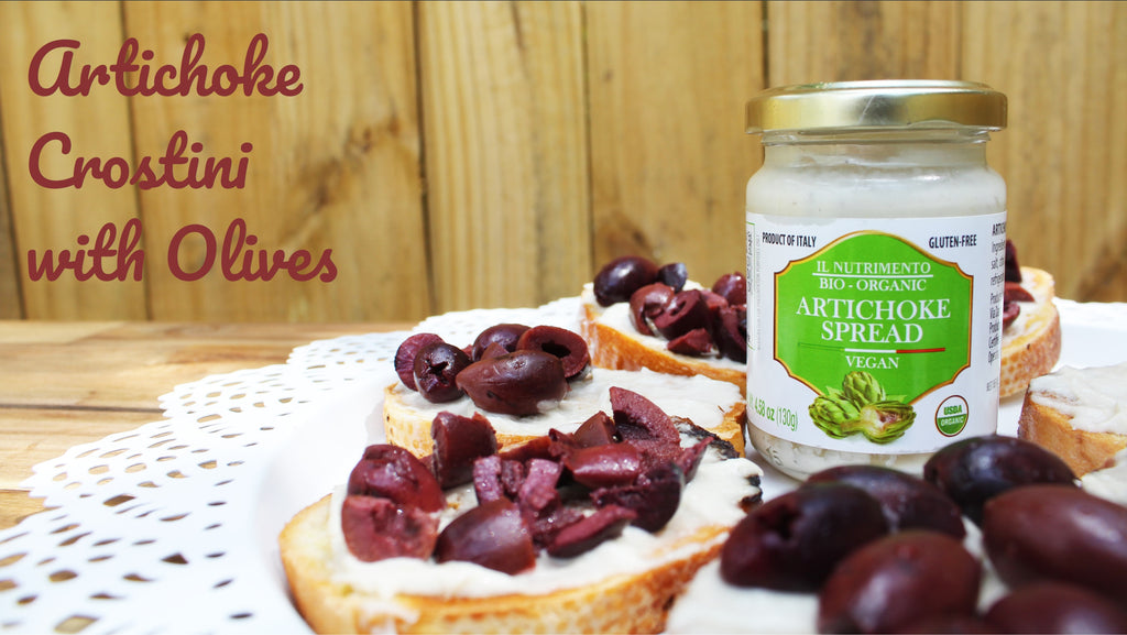 Artichoke Crostini with Olives