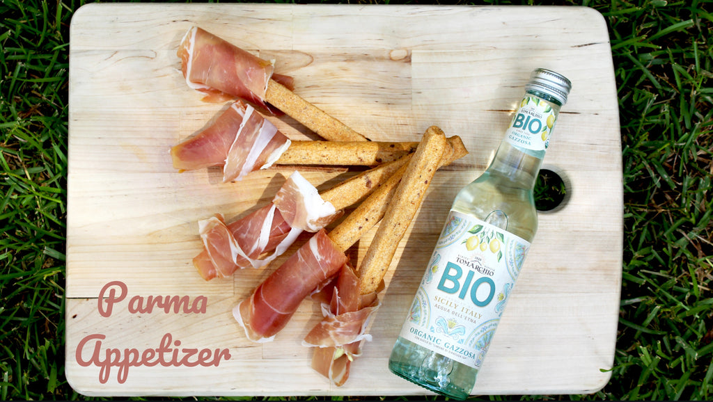 Easy Italian Appetizer | Prosciutto Wrapped Grissini