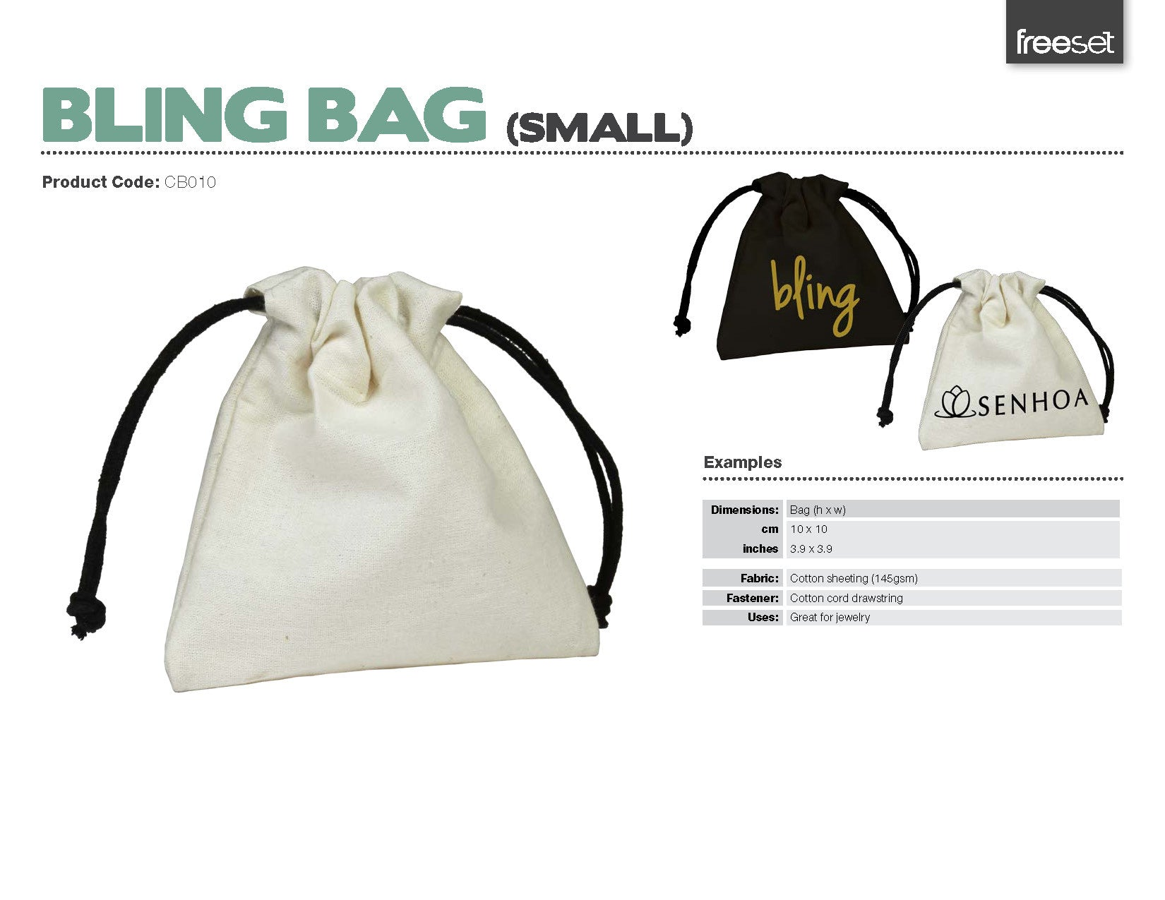 Bling | Small, Medium & Large