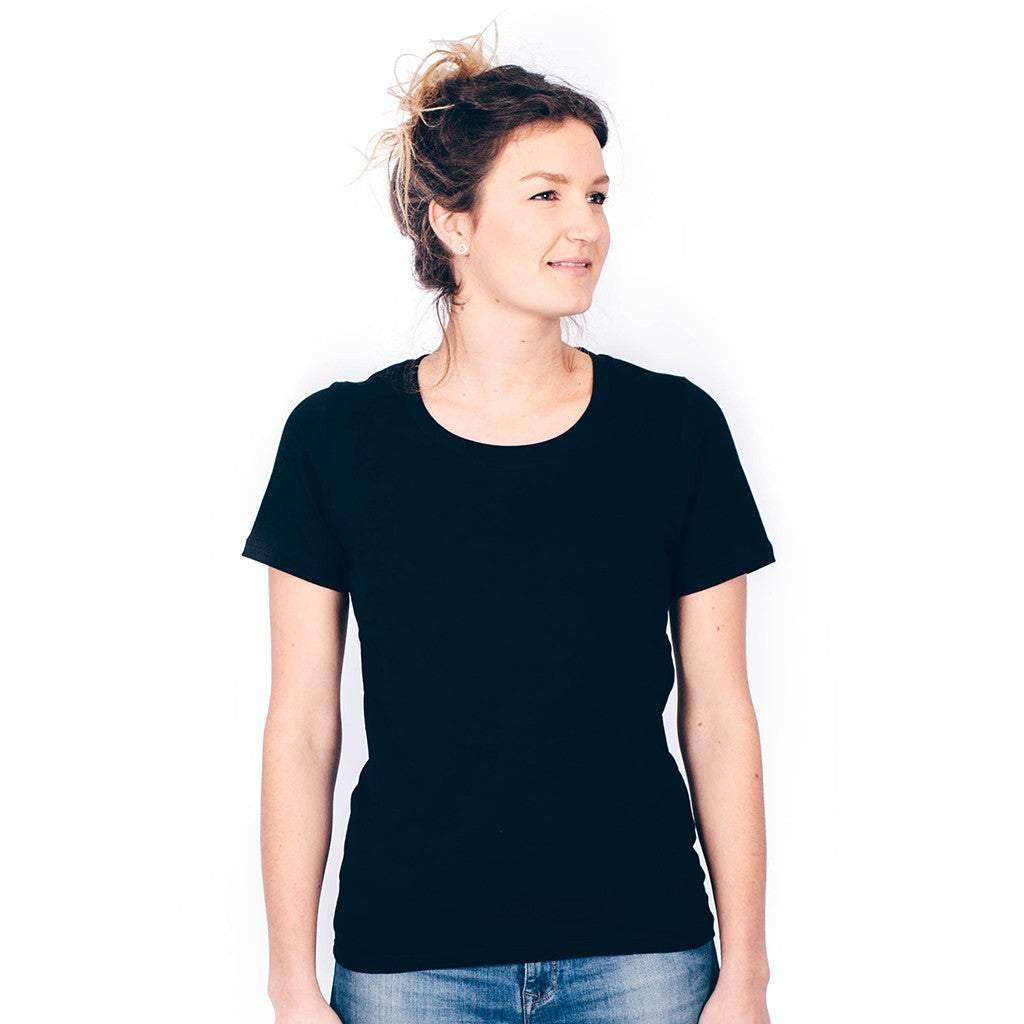 T shirts unisex kindred for Womens black tee shirt
