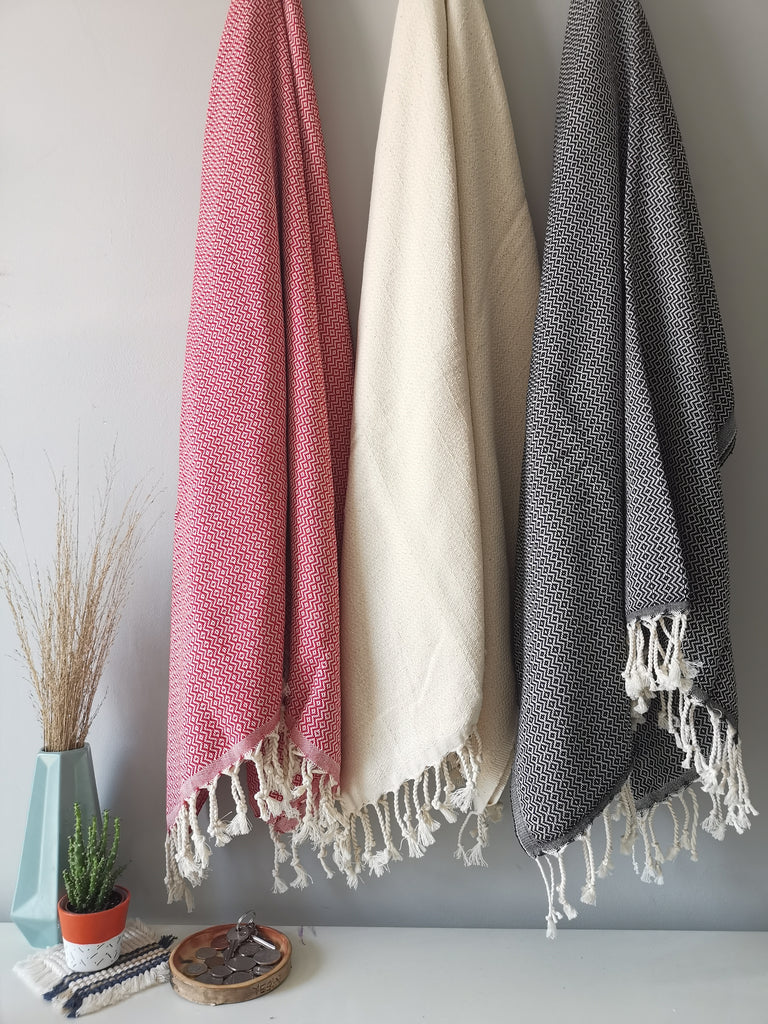 "TURKISH PESHTEMAL TOWEL 40"" x 70"", Quick Dry, Eco Friendly Beach Towel, Bath Peshtemal 100% Cotton Large Hammam Towel Fouta Unique Gift"