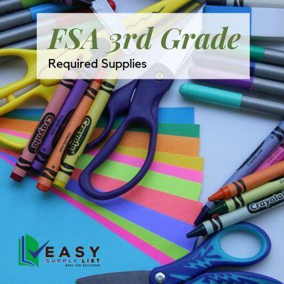 FSA - School Supply List 3rd Grade