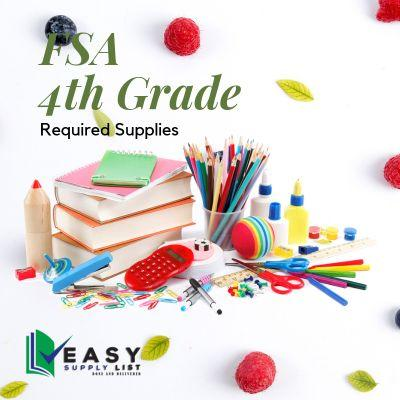 FSA - School Supply List 4th Grade