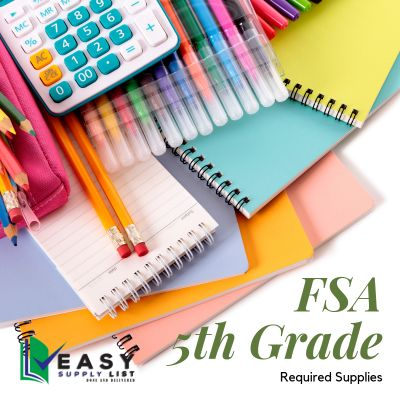FSA - School Supply List 5th Grade