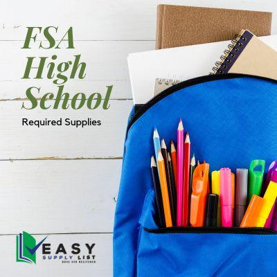FSA - School Supply List High School