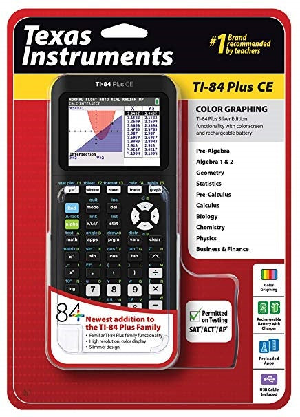 TI - 84 Plus CE Graphing Calculator