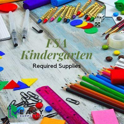 FSA - School Supply List Kindergarten