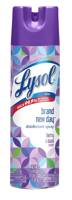 Lysol Disinfectant Spray, Brand New Day, Berry & Basil, 19 oz
