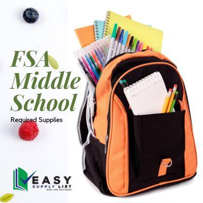 FSA - School Supply List Middle School
