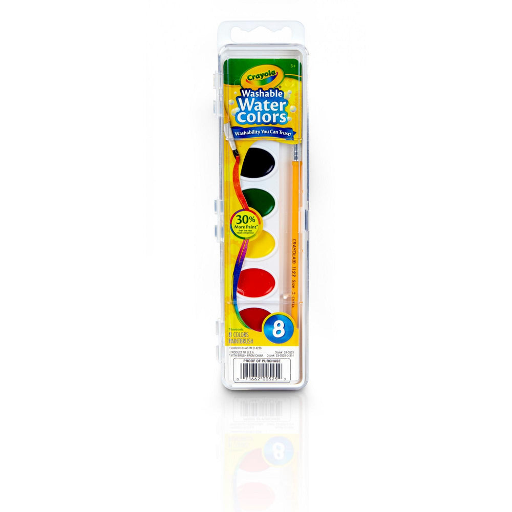 Crayola Watercolor Paint, Kids Painting Supplies, 8 Count